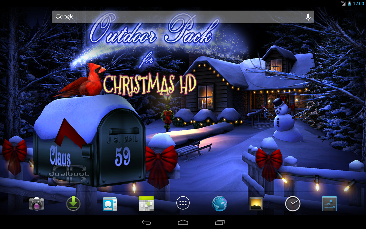 christmas live wallpaper android tablet